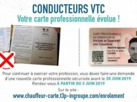 Carte Vtc 2019.Launch Of The Campaign To Secure The Professional Cards Of